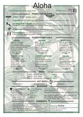 aloha menu hiver