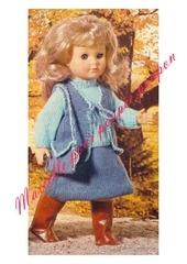 1977 08 mfrancoise jupe pull gilet sac