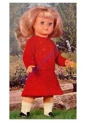 1978 08 mfrancoise pull et jupe tricotes