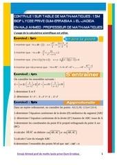 controle 1 sur table de mathematiques 19