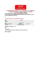 bulletin dinscription corrida de noel