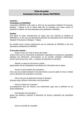 fiche de poste maporou animateur reseau 2019