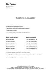 honoraires transaction martimmo
