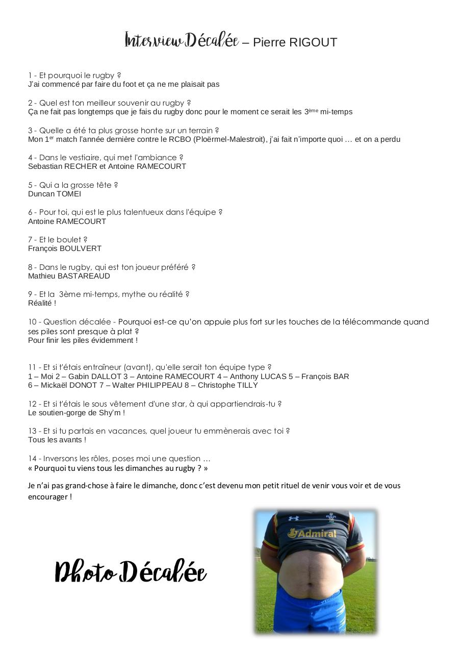 Aperçu du document Interview Décalée - Pierre RIGOUT.pdf - page 1/1