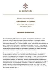 pf journee mondiale des pauvres 2018 en espagnol