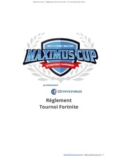 maximus cup 2 reglement fortnite