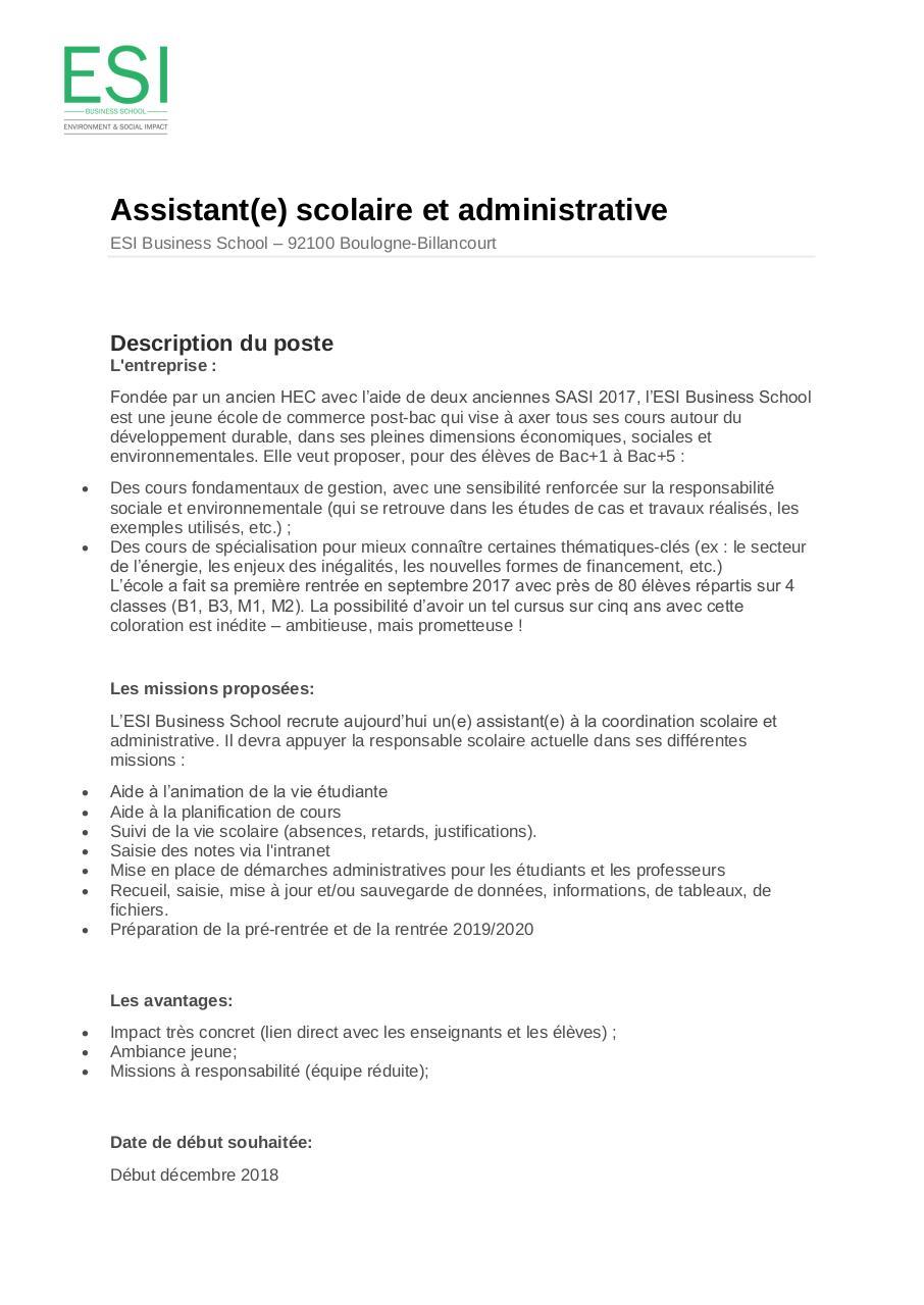 Lettre De Motivation Assistant Français à L'étranger ...