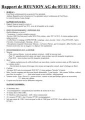 resume rapport reunion ag 2018 amcg