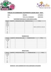 tableau de commande equipements saison 2018