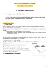 titrage par conductimetrie