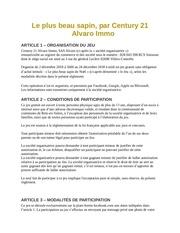 reglement jeu concours century 21 alvaro immo