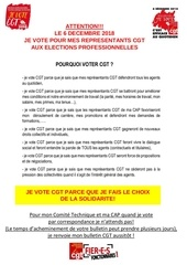 tract d appel au vote du  dec