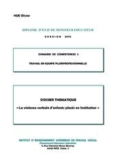 hue dc3 dossier thematique