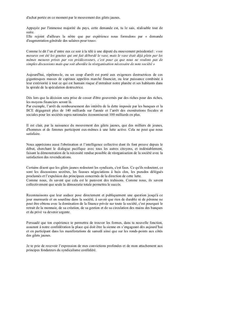 Lettre De Denis Langlet A Y V 29 11 2018 Doc 0 Doc Lettre De