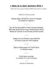 menu saint sylvestre 2018