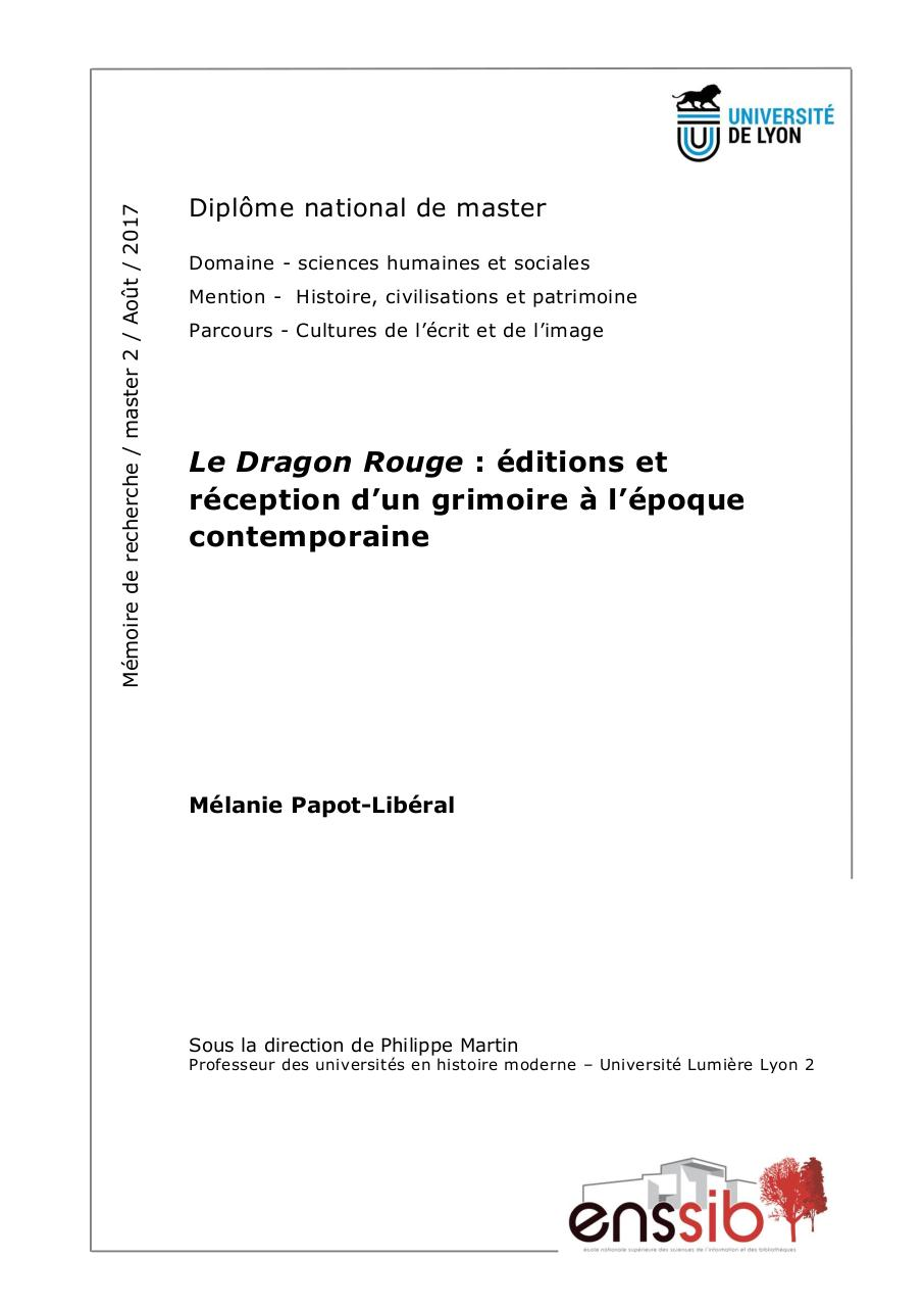67765-le-dragon-rouge-editions-et-reception-d-un-grimoire-a-l-epoque-contemporaine.pdf - page 1/154