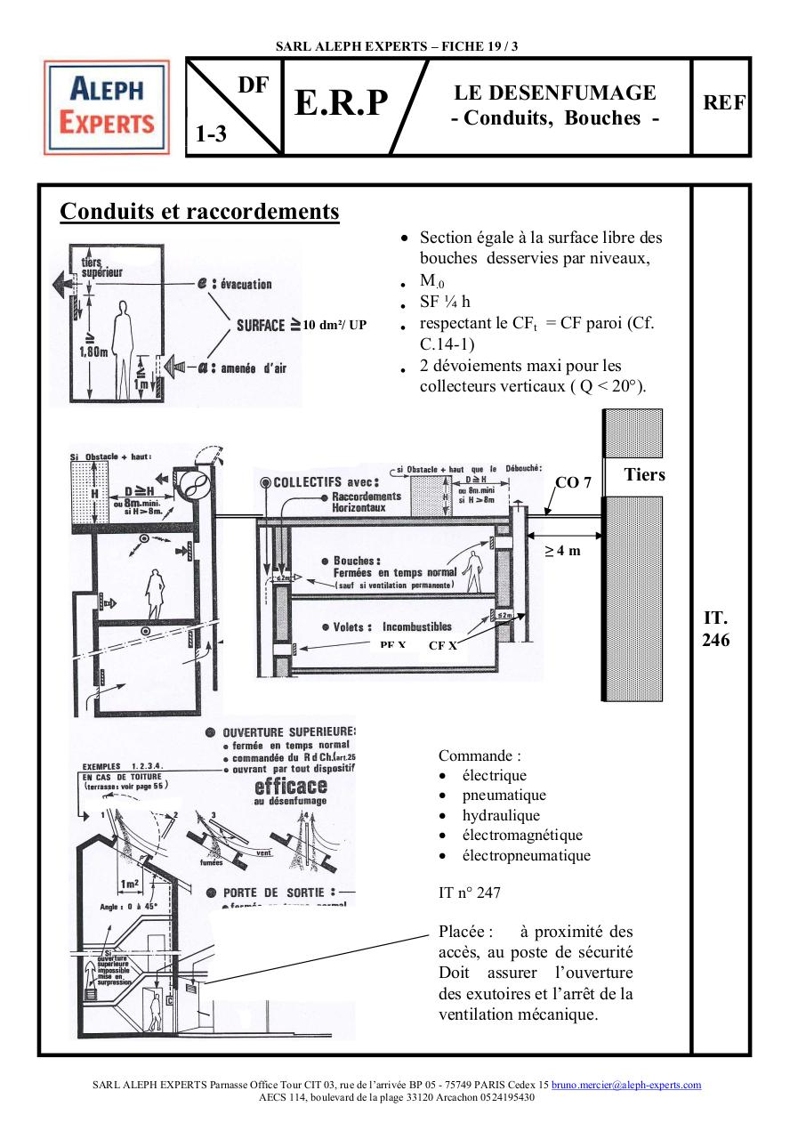 ALEPH EXPERTS - FICHE 19.3 ERP LE DESENFUMAGE - CONDUITS BOUCHES.pdf - page 1/2