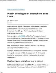 elepine64 developpe un smartphone sous linux