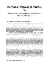 proposition daccord de cessez le feu