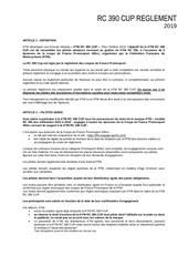rc 390 cupreglement 2019