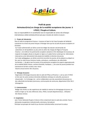 Fichier PDF profil de poste ipeicc