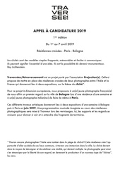 fr   appel a candidature photographe 2019