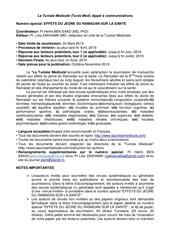 Fichier PDF appel a communications tunisie medicale