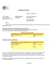 Fichier PDF attestation fiscale 2017 msa
