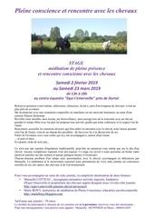 stages medit et chevaux fevrier et mars  2019