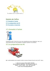 Fichier PDF pcest facile conseils achat installation formation