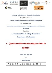 appel a communication modele economique dans le sport avril 2019