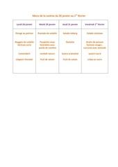 menu de la cantine du 28 janvier
