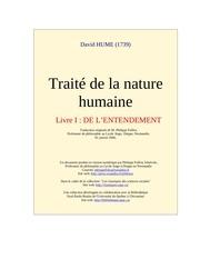 100 hume david 261p traite de la nature humaine