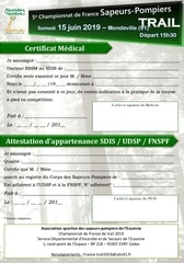 Fichier PDF certificat medical et attestation appartenance union