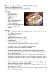pain au fromage sans levure et cuit a la poele de georgie