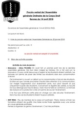 proces verbal   assemblee generale ordinaire   14 avril 2018