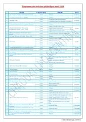 programme des emissions philatelique annee 2018