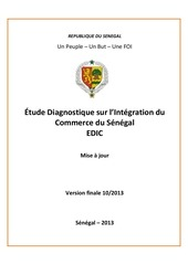 tude diagnostique sur lintegration du commerce du senegal edic