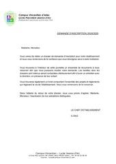 Fichier PDF dossier demande inscription 1