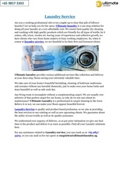 Fichier PDF laundry service