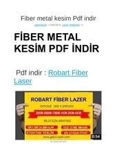 fiber metal kesim pdf indir