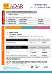 tarification affichage 01 01 2019