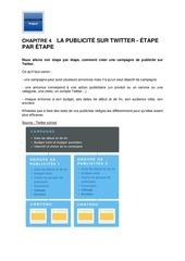 Fichier PDF m20   chapitre 4    la publicite twitter   etape par etape