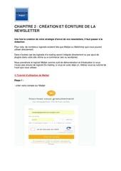 m6   chapitre 2    creation et ecriture de la newsletter