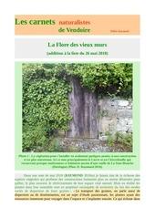 flore vieux murs addition carnets vendoire d raymond 2019