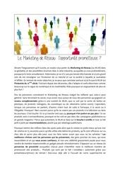 Fichier PDF article marketing de reseau