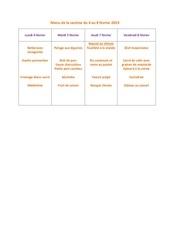 menu de la cantine du 4 fevrier