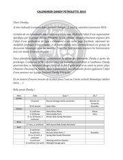 calendrier dandy petrolette 2019 2