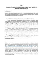 lettre pour agnes thill et tous les deputes contre la pma