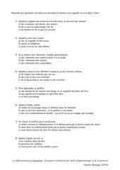 questionnaire memoire